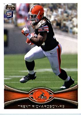 2012 Topps Football Card # 380 Trent Richardson RC - Cleveland Browns (RC - Rookie Card) (NFL Trading Card)