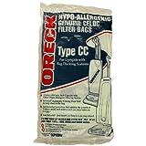 oreck hypo allergenic genuine celoc filter bags type cc 8 pack