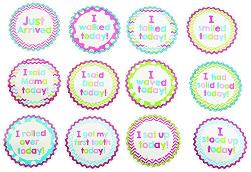 Mud Pie Milestone Stickers, Girl
