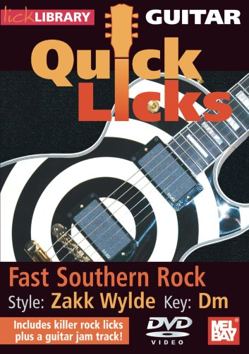 Lick Library: Quick Licks - Zakk Wylde Fast Southern Rock [DVD] [2008]