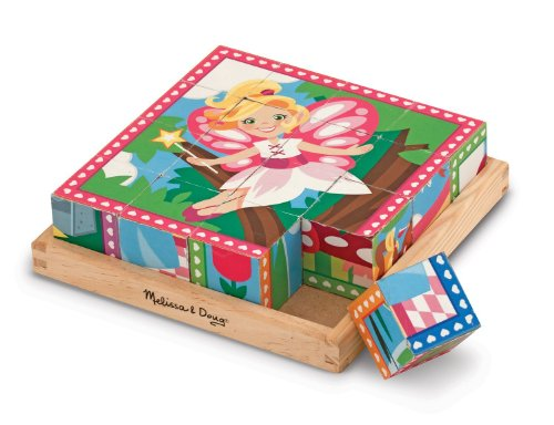 Princess and Fairy Themed Cube Puzzle + FREE Melissa & Doug Scratch Art Mini-Pad Bundle [90407]