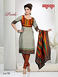 Anand Prints Women's Cotton Unstitched Dress Material (Dno113_MultiColored)