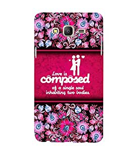 Love Quote 3D Hard Polycarbonate Designer Back Case Cover for Samsung Galaxy On7 :: Samsung Galaxy On 7 G600FY