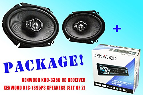 Package ! Kenwood Kdc-335U Cd-Receiver + Kenwood Kfc-C6895Ps Car Speakers