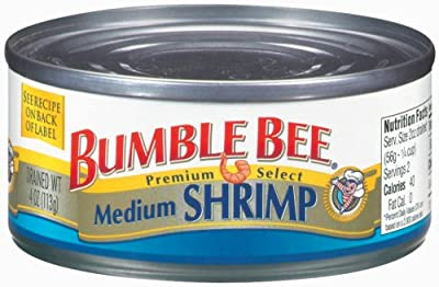 Bumble Bee Shrimp Regular Medium, 4-Ounce Can (Pack of 6) by Bumble Bee