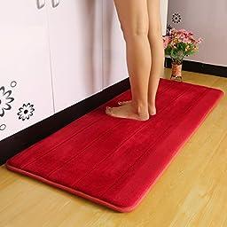 XH@G Mat rug kitchen mat-slip suction bath mat doormat , red , 40*70