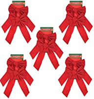 Red Velvet Christmas Bow 9-inch X 16-…
