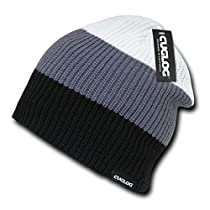 CUGLOG Mauna Kea 3 Tone Knit Cap, Black/Grey/White