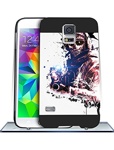 Call Of Duty Ghosts Samsung S5 CustodiaCase {Hard Plastic} Cover Customized Plastic Back for Samsung Galaxy S5 i9600