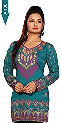 Indian Tunic Top Womens Kurti Printed Blouse India Clothing - 70 Designs!