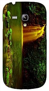 Timpax protective Armor Hard Bumper Back Case Cover. Multicolor printed on 3 Dimensional case with latest & finest graphic design art. Compatible with Samsung S-3Mini - I8190 Galaxy S III mini Design No : TDZ-26580