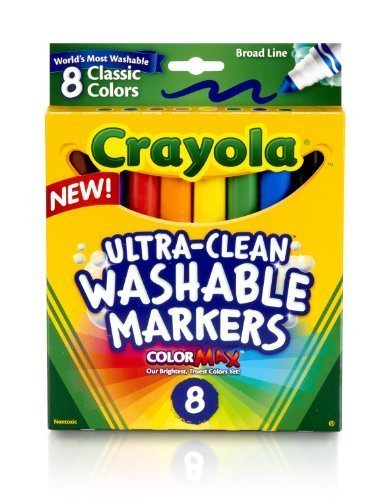 Crayola Broad Line Ultraclean Washable Classic Markers (8 Count) by Crayola - 1