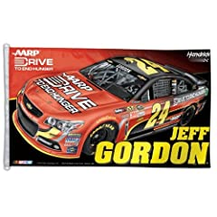 Jeff Gordon 24 3x5 NASCAR Driver House Flag Banner by WinCraft