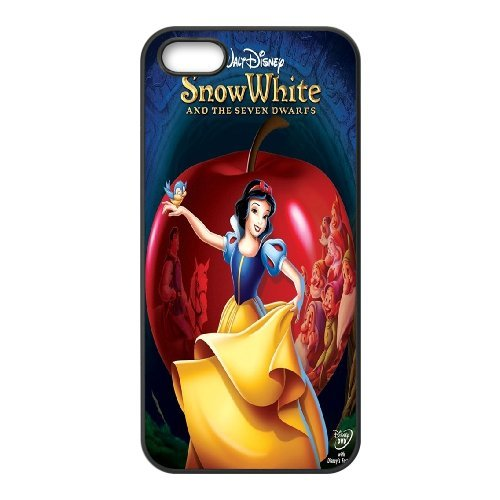 [H-DIY CASE] For Apple Iphone 5 5S -Snow White Holding Apple-CASE-16
