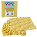 "Brick Building Base Plates By Scs Small 5""X5"" Sand Baseplates (10 Pack) Tight Fit With Lego"