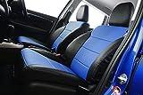 オートウェア シートカバー ホンダ フィット3 ハイブリッド シートカバー GK 二列目センターアームレスト無タイプ 専用デザイン シートカバー 2トーン ブラック+青色 2013年 09月~現行 品番:3796 ブラック+青色