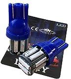 (ライミー)LIMEY 最新!5W級 爆光 T10 LED バルブ ウエッジタイプ 10連×2SMD 20チップ搭載 SMD7020 青 ブルー 2個入り 電球 五世代 車内ランプ SMD 置換ナンバー灯 クリアランスランプ 高輝度環境省エネランプ 保証書付き【ベース:青】