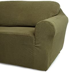 Classic Slipcovers 30-42-Inch Chair Cover, Olive Green