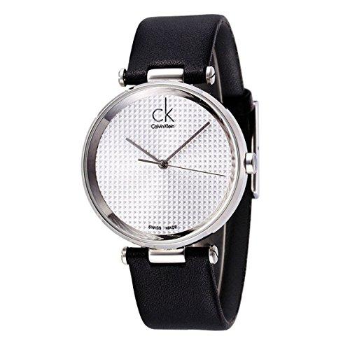 Calvin Klein K1S21120 - Reloj analógico de cuarzo para hombre con correa de piel, color negro