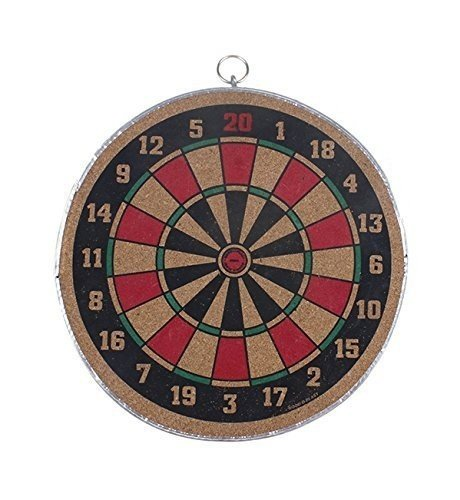 Christmas Gift Wooden Dart Game Set with Dual Side Play 18