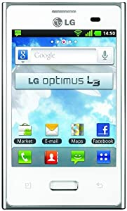 LG L3 FULL WHITE Smartphone Monobloc tout tactile Ecran LCD 3,2