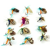 12pcs Fly Fishing Flies Set Butterfly Like Floating Fishing Lure Sharp Strong Hook Trout/Bass Fish Flies