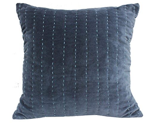 Velvet Running Stitch Cushion Cover