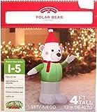 Gemmy Inflateables Holiday G08 37880 Air Blown Polar Bear Decor
