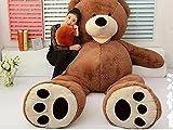 ぬいぐるみ 特大 くま/テディベア アメリカCostCo 可愛い熊 動物 大きい/巨大 くまぬいぐるみ/熊縫い包み/クマ抱き枕/お祝い/ふわふわぬいぐるみクリスマスプレゼント店飾り おもちゃ (160cm, ダックブラウン)