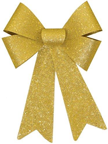 glitter bow gold