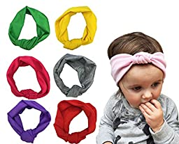 7 Pack Baby Girls Headbands Soft Turban Toddler Knotted Headwear