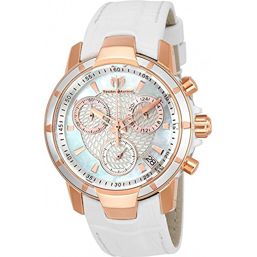 technomarine-uf6-femme-38mm-bracelet-cuir-blanc-boitier-plastique-quartz-cadran-nacre-montre-tm-6150