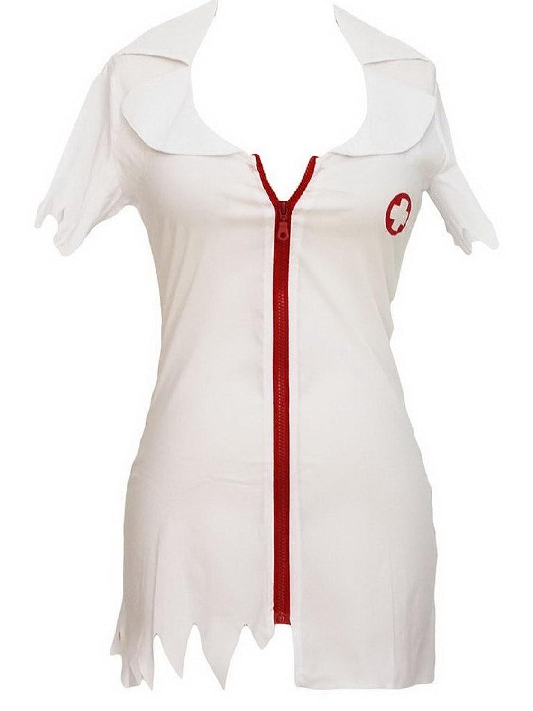 Bigood Besonderes Krankenschwester Rollenspiel Cosplay Kostüm One-Size Weiss günstig online kaufen