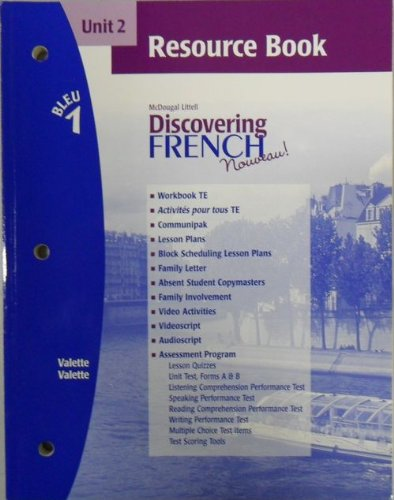 Discovering French Nouveau (Unit 2 Resource Book, Bleu 1)