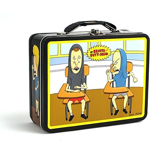 1 X Beavis and Butt-Head Classroom Embossed Metal Lunch Box/ Carry-All - 1