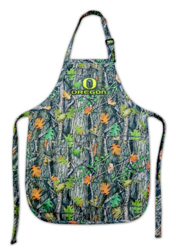 University Of Oregon Real Camo Apron Uo Ducks Ncaa Top Rated For Grilling, Barbecue, Kitchen