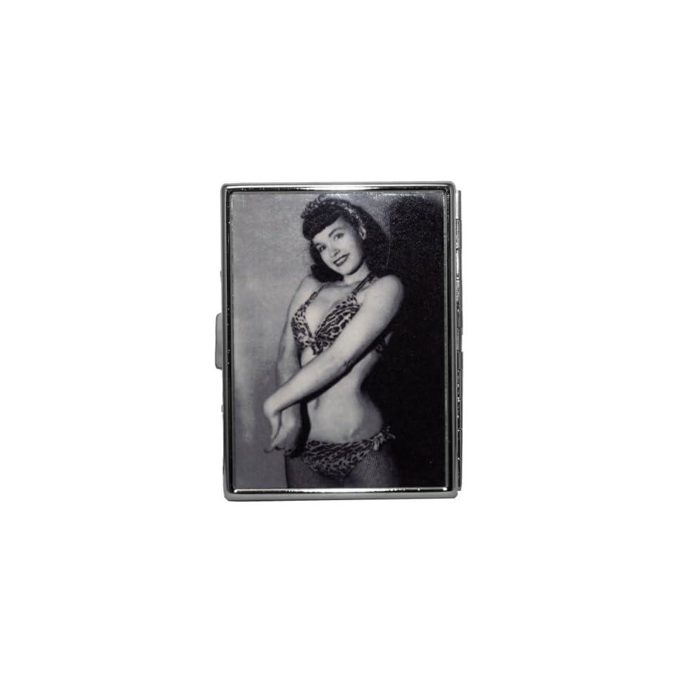 Bettie Page Burlesque Pin Up Model Leopard Bikini