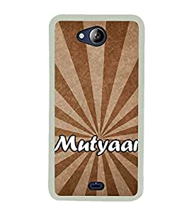 Mutyaar 2D Hard Polycarbonate Designer Back Case Cover for Micromax Canvas Play Q355