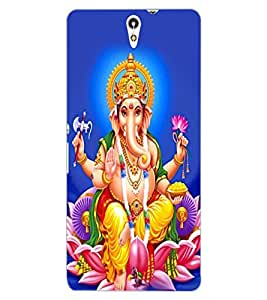 ColourCraft Lord Ganesha Design Back Case Cover for SONY XPERIA C5 ULTRA DUAL
