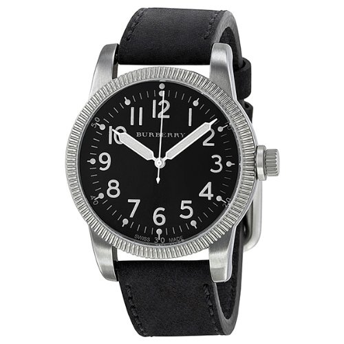 Burberry Men's BU7805 Military Black Dial luminous Hands Watch