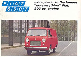 1970 Fiat 850T 850 Van Station Wagon Combi Brochure at Amazon's