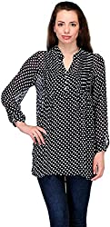 Belle Casual Full Sleeve Polka Print Women's Top (BC-56_36)