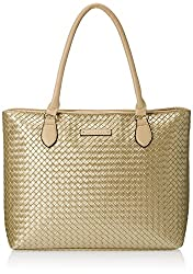 Caprese Becky Women's Tote Bag Handbag (Gold)