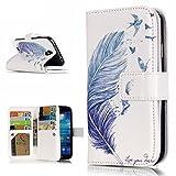 UNEXTATI Galaxy S4 ケース 高品質 PUレザー 手帳型ケース 保護カバー カード収納 液晶保護 防塵 Samsung GalaxyS4 用 Case Cover (P5 ホワイト)