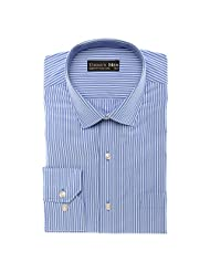 Today's Men Men's Formal Shirt Double Fused Collar ( Blue ) - B00RYW1T84