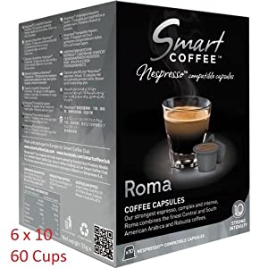 Smart Coffee Club Nespresso® Compatible Coffee Pods 6 x 10 Roma