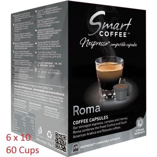 Smart Coffee Club Nespresso® Compatible Coffee Pods 6 x 10 Roma