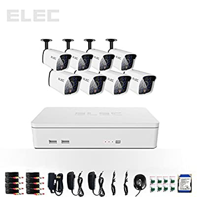 ELEC 8CH 960H HDMI CCTV DVR 8 Indoor / Outdoor 700TVL Bullet Night Vision Cameras Security Camera System with 320GB Hard Drive Pre-installed CVK-HL08CP03-320GB