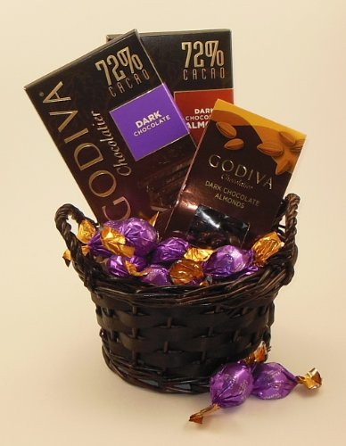 Godiva Dark Chocolate Lovers Gift Basket (small)