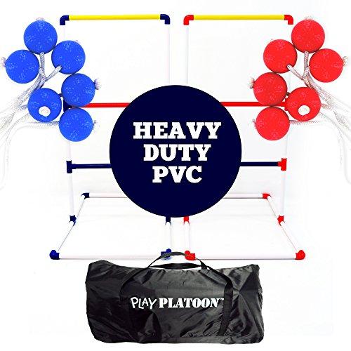 Play Platoon Ladderball Game Set with 6 Ladder Toss Golf Ball Bolas